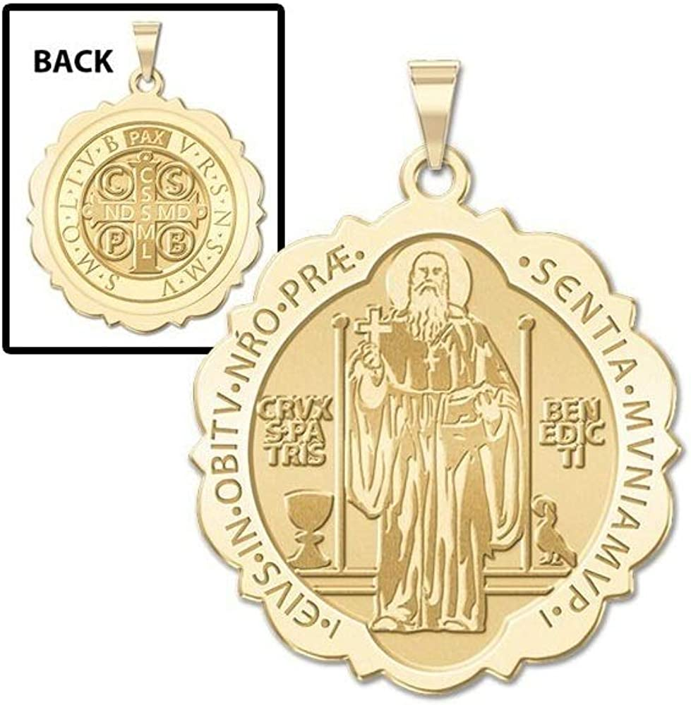 2//3 Inch Size of Dime Solid 14K Yellow Gold PicturesOnGold.com Pope Benedict XVI Round Religious Medal