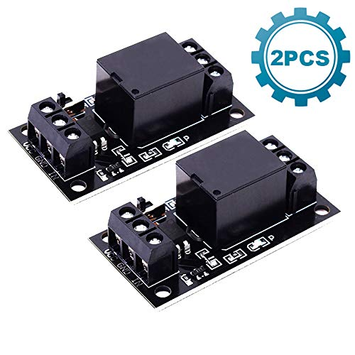 Mechanical Relay - ICStation 1CH DC 3V 3.3V Relay Power Switch Module with Optocoupler High Level Trigger for ESP8266 Development Board Arduinoo (Pack of 2)