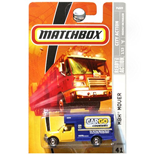 Matchbox City Action MBX Mover Moving Van Cargo Couriers Yellow Blue (Mbx Mover)