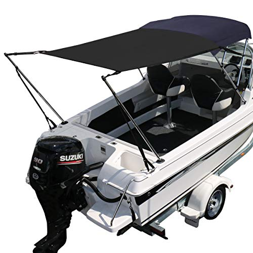 (Oceansouth Bimini Extension Airflow Boat Shades (Black, Length 67