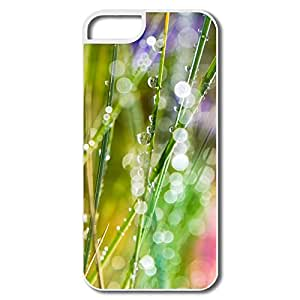 Custom Make Vintage Protective Case Grass Dew Bokeh For IPhone 5/5s