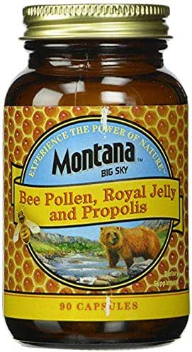 Montana Big Sky, Bee Pollen, Royal Jelly and Propolis, 2 Packs (90 Capsules) from Out Family to Yours