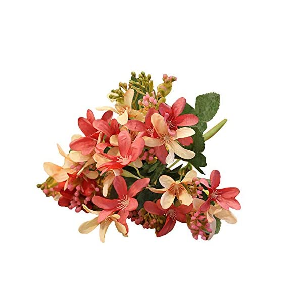 MARJON FlowersArtifical Flower, Artificial Flower Fake Daffodil Home Garden Wedding Party Decor 1Pc Handmade – Red