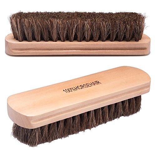 100 Natural Fine Horsehair Soft Leather Cleaning Brush