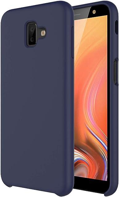 Funda Samsung J6 Plus, Slim Líquido de Silicona Suave Carcasa Anti-Rasguño y Resistente Dactilares Protectora Teléfono Caso para Samsung Galaxy J6+ 2018 (Samsung Galaxy J6 Plus, Azul Medianoche): Amazon.es: Ropa y accesorios