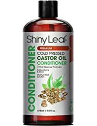 Cold Pressed Castor Oil Conditioner – Premium Hair Regrowth Conditioner with Cold Pressed Castor Oil, For All Hair Types, Moisturizes Hair, Keeps Hair Silky Soft and Smooth, 16 oz (473ml)