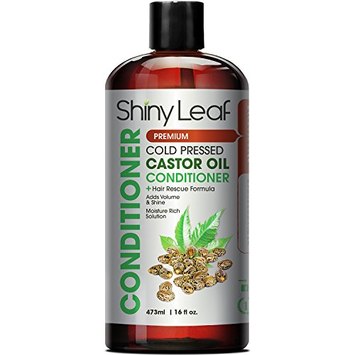 Shiny Leaf Cold Pressed Castor Oil Conditioner – Premium Hair Regrowth Conditioner with Cold Pressed Castor Oil, For All Hair Types, Moisturizes Hair, Keeps Hair Silky Soft and Smooth, 16 oz (473ml) by Shiny Leaf