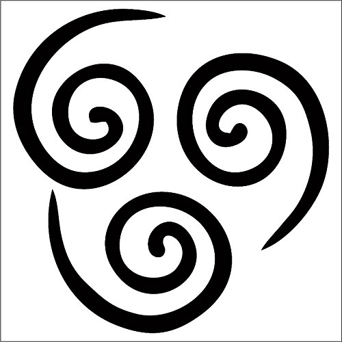 Air Nomad Decal / Sticker - Black 4- Aang, The Last Air Bender, Avatar