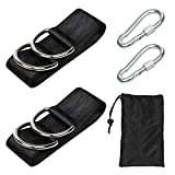 Travelnote Hammock Straps Swing Attachment, 1 Pair Max 500kgs 150 x 5cm Strap Kit Hanging Set Hammock Hanging Chair for Trip, Camping, Hiking and Outdoor Traveling