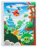 Mead Angry Birds Notebook, 10-1/2 x 7-1/2-Inches, 1-Subject, 80ct, CR, Red Scene (72042)