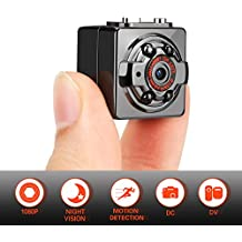 Portable Surveillance Hidden Spy Camera – SharpCam Mini Eye Full HD 1080P 12MP Hidden Camera with Night Vision/Motion Detection/Loop Recording, Best Nanny Cam for Home and Office Security