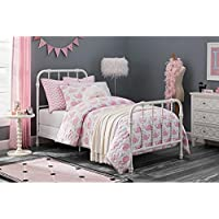 DHP Jenny Lind White Metal Twin Bed, 47 inches high x 42.5 inches wide x 79.5 inches deep