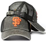 American Needle San Francisco Giants MLB Raglan Bones Soft Mesh Back Slouch Twill Cap