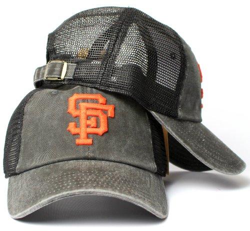 San Francisco Giants Logo Jersey - American Needle San Francisco Giants MLB Raglan Bones Soft Mesh Back Slouch Twill Cap