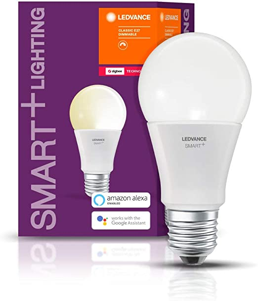 Ledvance Smart Led Zigbee Lampe Mit E27 Sockel Warmweiss Dimmbar Direkt Kompatibel Mit Echo Plus Und Echo Show 2 Gen Kompatibel Mit Philips Hue Bridge Amazon De Kuche Haushalt