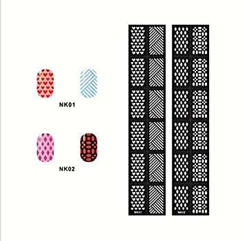 Amazon.com : Reusable Stamping Tool DIY Nail Art Template Stickers ...
