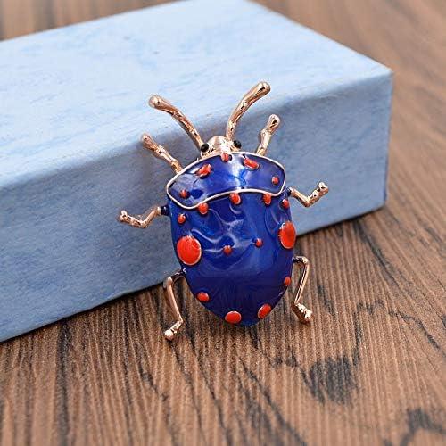 XZFCBH Broche Broche col/éopt/ère /émail pour Femmes Mignonne Mode Insecte Broche Broche Couleur Bleue Haute qualit/é Bijoux Cadeau