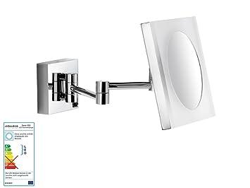 Avenarius Wand Kosmetikspiegel Wandspiegel 5-fach Vergr/ö/ßerung mit LED Beleuchtung