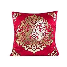 Pillow Case Sofa Waist Throw Cushion Cover Home Decor (red)