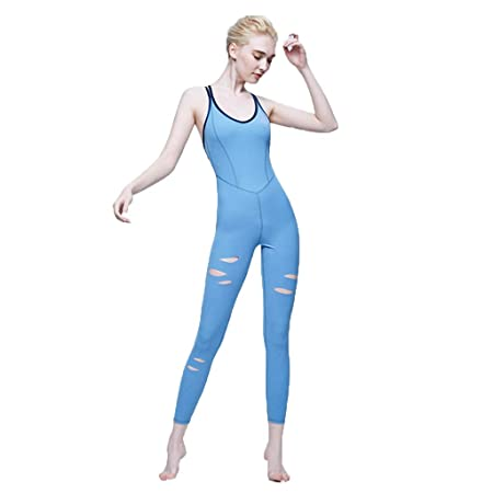 WYGH Mujer Deporte Yoga Mono Body con Sexy Sin Mangas ...