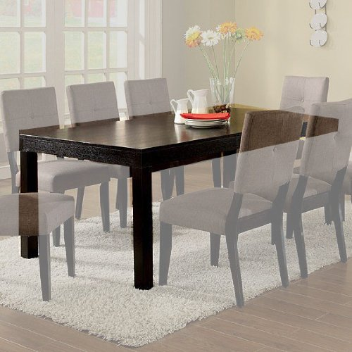 Bay Dining Table - Bay Side Dining Table with Leaf in Espresso Finish by Furniture of America