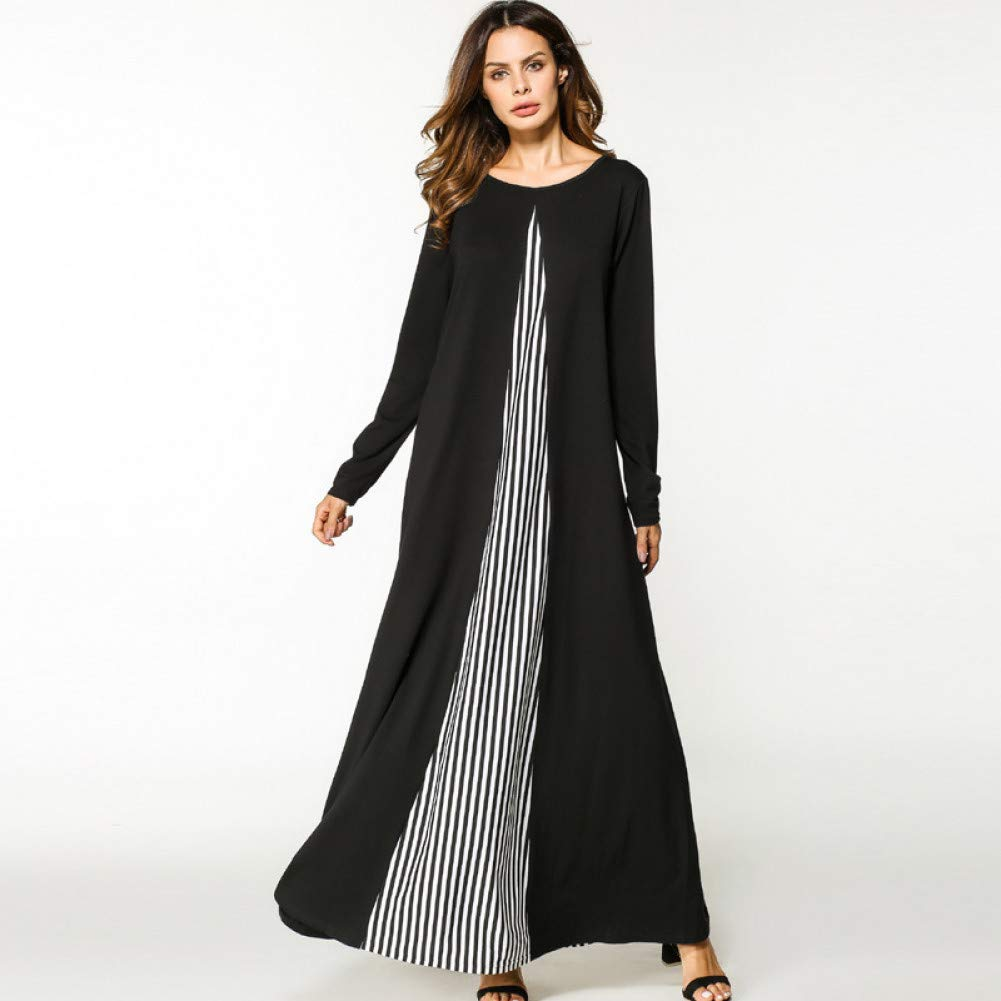 A XIAOPANGHAI Maxi Dresses for Women Long Dress Bohemian Clothing Large Size Casual Bodycon Beach Plus Size Ladies