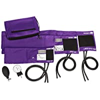 Prestige Medical 3-in-1 Aneroid Sphygmomanometer Set with Carry Case, Purple