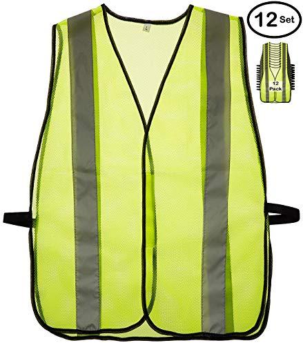 Reflectes Chaleco de seguridad de alta visibilidad, reflectante, transpirable, para hombres y mujeres, con rayas reflectantes...