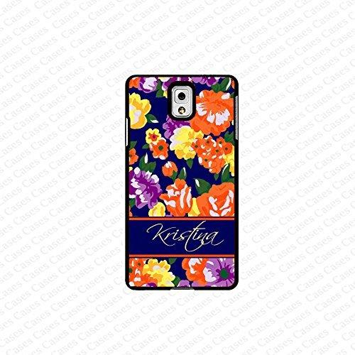 krezy case monogram Galaxy Note 4 case- monogram Personalized colorful flower pattern samsung Galaxy Note 4 case...