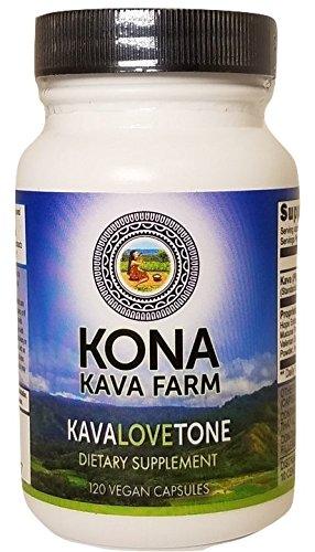 KONA KAVA Kava Root Extract KavaLOVEtone Premium Capsules (120) by Kona Kava Farm