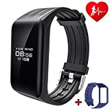 DAWO Fitness Tracker Watch IP68 Waterproof Activity Wireless Smart Bracelet with Continuous Heart Rate Monitor Step Calorie Sleep Counter Bluetooth Wristband Pedometer Sports Smart Band