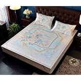 BEIRU end Collapsible European Digital Printing Washed Ice Silk Mat 3d Breathable Mesh Mat Three-piece ZXCV (Color : 3, Size : 180200CM)