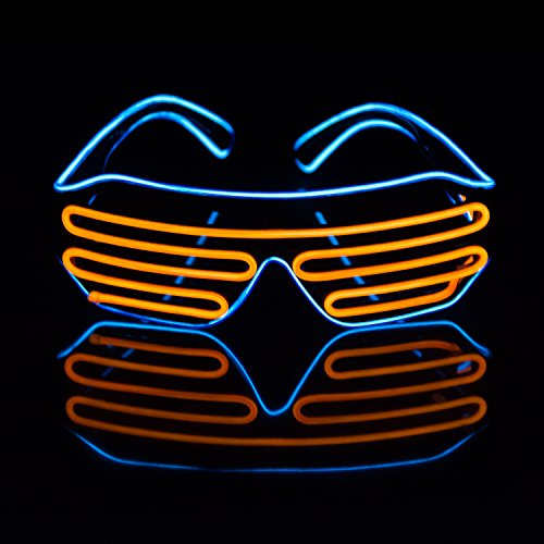 Led Light Up Neon Shutter Party Glasses for Parties Decorations