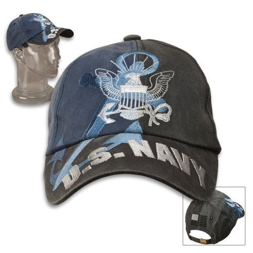 US Navy Anchor Washed Blue Ball Cap, Outdoor Stuffs