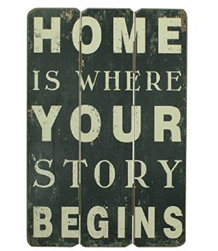 Unbekannt Cartel Madera Frase Home Is Where Your Story ...