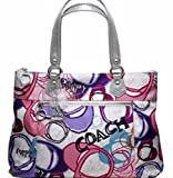 Coach Poppy Graphic Montage Glam Tote 17929 Pink Purple Grey