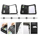 wilbest® porte documents en cuir multifonctionnel dossier de conférence de A4 avec la calculatrice et les poignées… 9