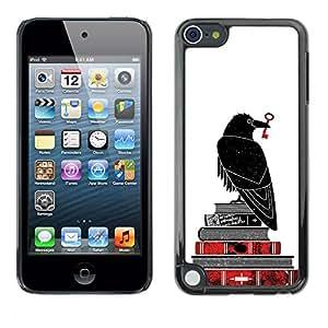 For Apple iPod Touch 5 Case , White Bible Key Books Reading Deep - Diseño Patrón Teléfono Caso Cubierta Case Bumper Duro Protección Case Cover Funda