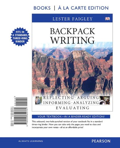 Backpack Writing, Books a la Carte Edition (3rd Edition)