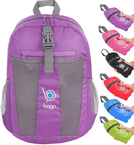- Bago Lightweight Foldable Backpack for Travel and Sport - 25L Collapsible Daybag