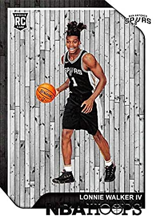 c2b1b34a212f 2018-19 NBA Hoops Basketball  256 Lonnie Walker IV San Antonio Spurs RC  Rookie
