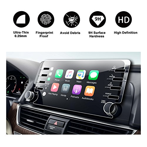 2018 Honda Accord Sport EX EX-L Touring EX-L Navi Navigation Screen Protector,HD Clear TEMPERED GLASS Screen Scratch-Resistant Ultra HD Extreme Clarity (2018 8In Clear)