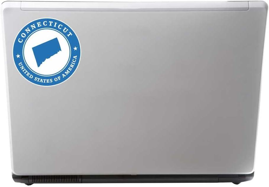 Adesivo in vinile per computer portatile auto Connecticut USA bagagli bandiera # 9377 viaggio