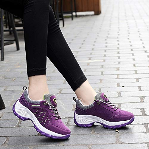 Shoes Shoes sho Autumn purple Sports casual Winter Single Shake Leather Casual Shoes Platform And High Shoes Matte Women'S afFw4zUq