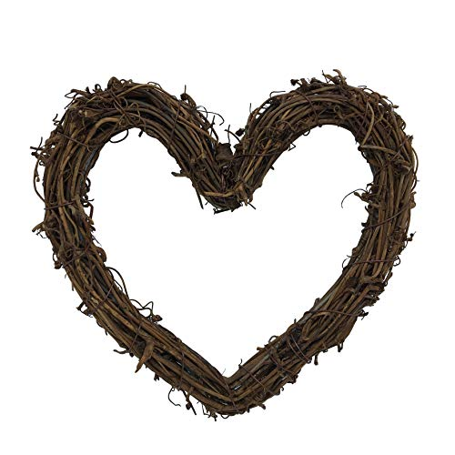 Heart Shape Natural Grapevine Wreath Ring Wreath DIY Craft Vines Base Grapevine Roll for Rustic Summer Fall Christmas Wreath Door Garland Home Wedding Party Decor Gift Hanging Decor Wreaths Supplies