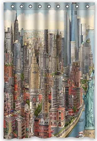 Image Unavailable Not Available For Color Top Design New York City Shower Curtain