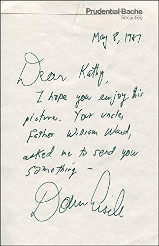 Colonel Donn F. Eisele Autograph Letter Signed 05/08/1987