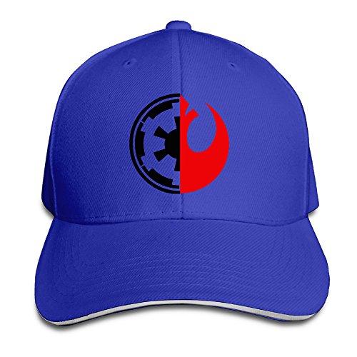 Bang Star Wars Rebel Alliance Logo Sandwich gorra de béisbol sombreros Azul real