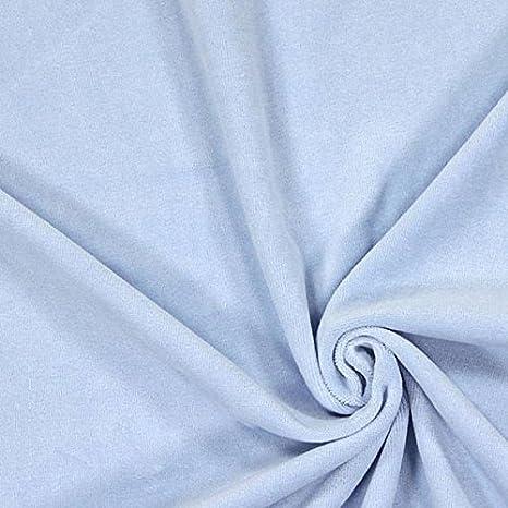 Toalla de terciopelo algodón tejido, se vende por metros, color azul cielo ref 69229-Avenue de los tejidos: Amazon.es: Hogar