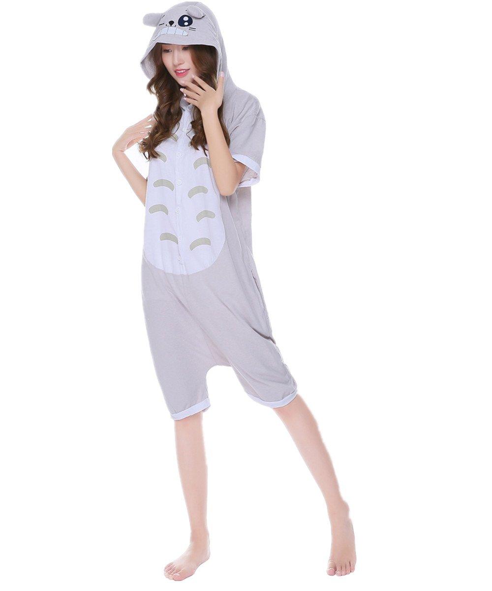 kxry Unisex Adult Summer Pajamas Onesie Homewear Cartoon Cosplay (X-Large, Totoro)